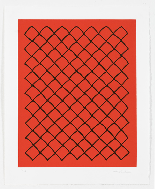 , 'Untitled (fence, red),' 2018, White Cube