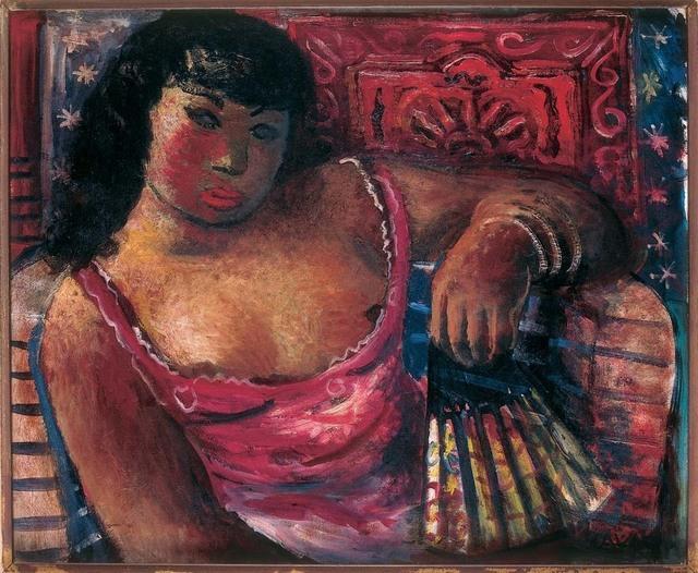 , 'Mulata com leque,' 1937, Museu de Arte Moderna (MAM Rio)