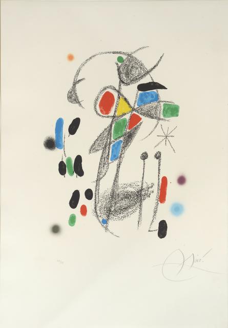 Joan Miró, 'Maravillas. No 18.  Marvels with Acrostic Variations from Miró's Garden', 1975, William Weston Gallery Ltd.