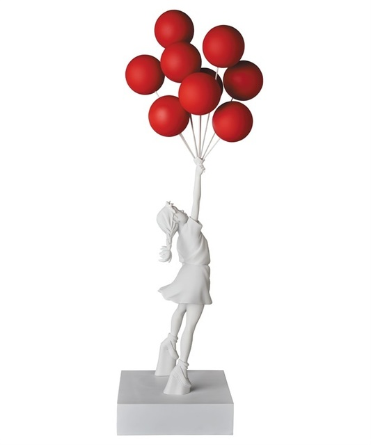 Banksy, 'Flying Balloons Girl (Red)', 2019, Sculpture, Polystone, Rite Gallery