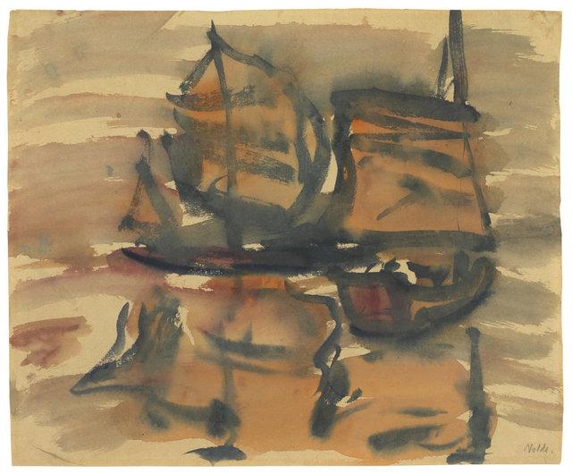 , 'Chinesische Dschunken,' 1913, Ludorff