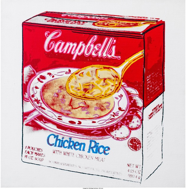 Andy Warhol, 'Campbell's Soup Box (Chicken Rice)', 1986, Print, Synthetic polymer paint and silkscreen inks on canvas, Heritage Auctions