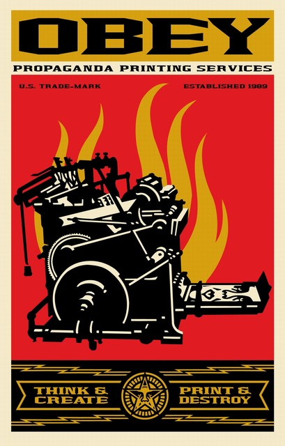 Shepard Fairey, 'Think & Create', 2019, Print, Offset lithograph on paper, Cerbera Gallery