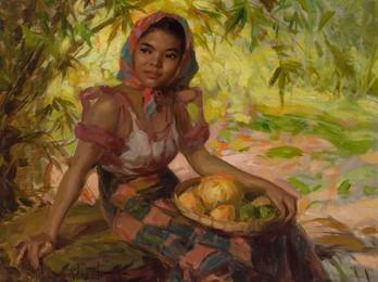 Girl with Mangos