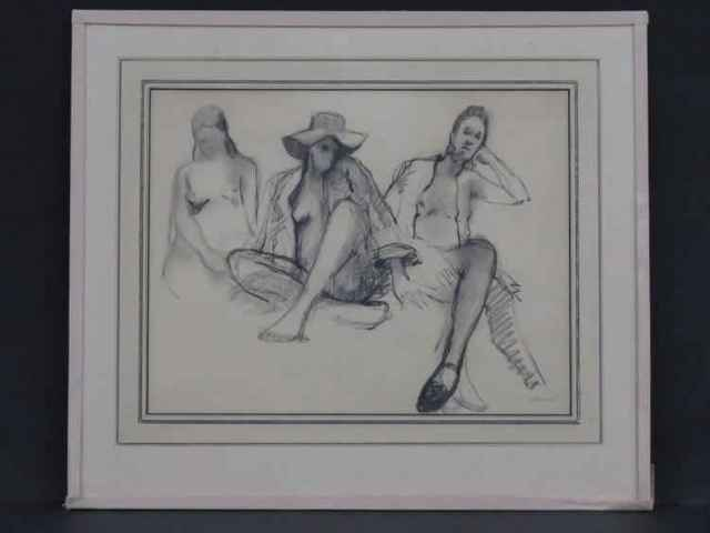 Arthur Coppedge, 'Three Figures', Unknown, Drawing, Collage or other Work on Paper, Charcoal, Leviton Fine Art