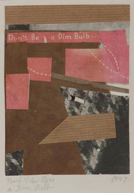 , 'a Dim Bulb (Keine Leuchte),' 1947, Galerie Schwarzer