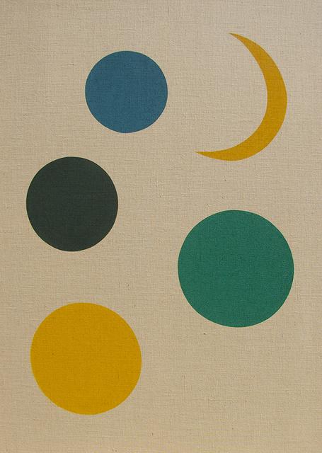 , 'Planets. Moon, blue, greens, yellow,' 2018, Christopher Grimes Projects