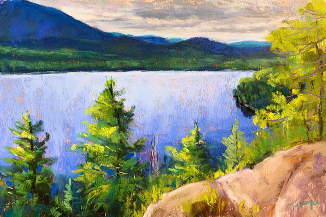 Takeyce Walter, 'Day 15: Silver Lake Overlook ', February 2020, Painting, Pastels, Keene Arts