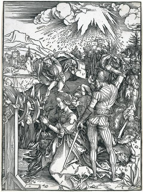 Albrecht Dürer, 'Martyrdom of Saint Catherine', 1497, Blanton Museum of Art