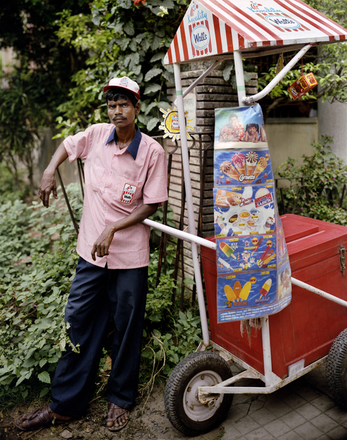 Laura McPhee, 'Ganesh Das, Ice Cream Man, Jodhpur Park, Kolkata', 1998, Benrubi Gallery