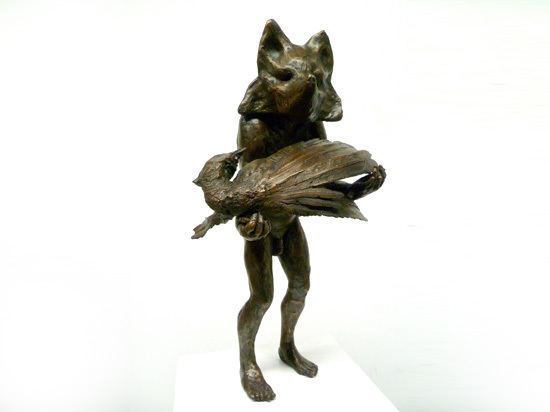 Beth Carter, 'Fox and Pheasant', Sculpture, Bronze, Hugo Galerie