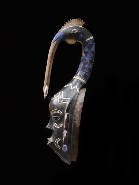 , 'Masque zuhu avec tête d'oiseau (Zuhu bird's head crest mask),' c-1920, Musée du quai Branly