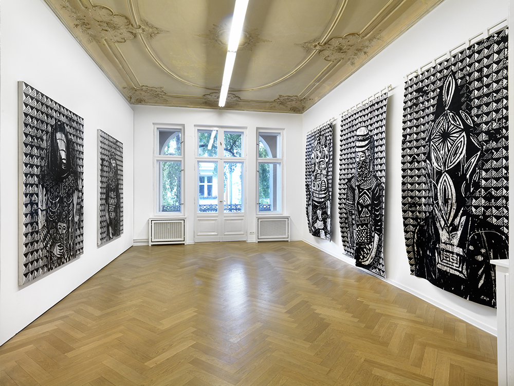 "Installation view. Eko Nugroho, ""PLASTIC DEMOCRACY"", A3, Berlin, Germany. April 27 - August 31, 2018. Photo: Berndt Borchardt"