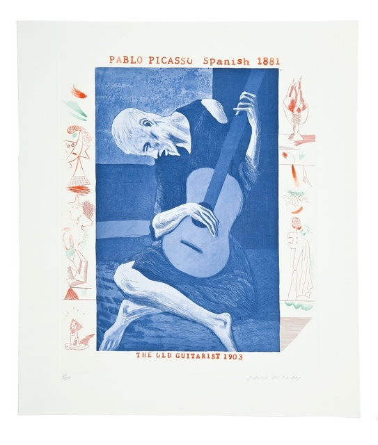 David Hockney, 'The Old Guitarist (from The Blue Guitar) (M.C.A. Tokyo 179)', 1976-1977, Forum Auctions