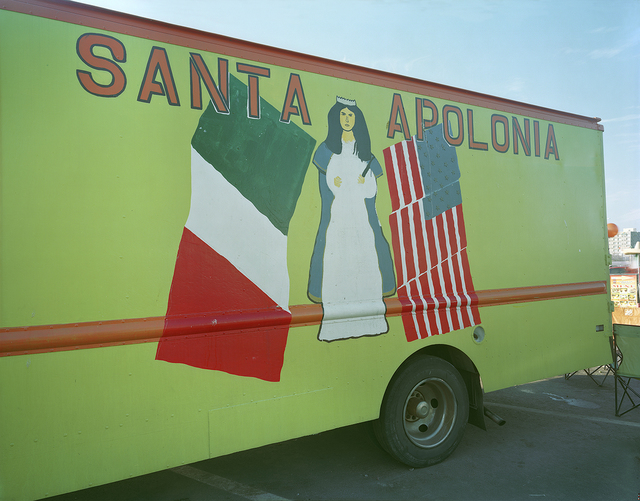 , 'Rear of Santa Apolonia Taco Truck, Long Wharf, New Haven, Connecticut,' 2014, Robert Klein Gallery