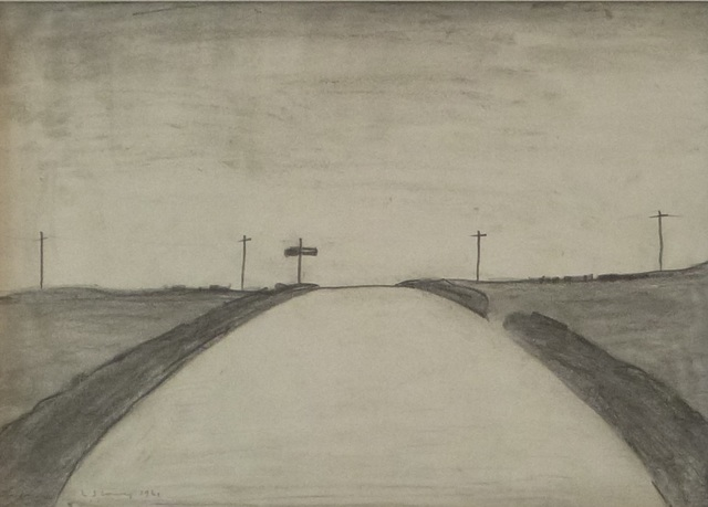 Laurence Stephen Lowry, 'Country Road Near Bowes, Cumberland', 1961, Hepplestone Fine Art Ltd
