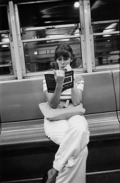 Louis Faurer, 'untitled (reading James Joyce on NY subway)', 1973, Etherton Gallery