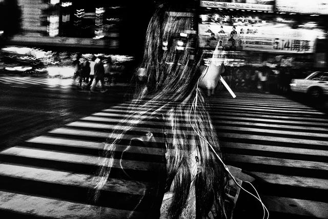 , 'A Girl with a Cigarette, Shibuya, Tokyo,' 2014, Huxley-Parlour