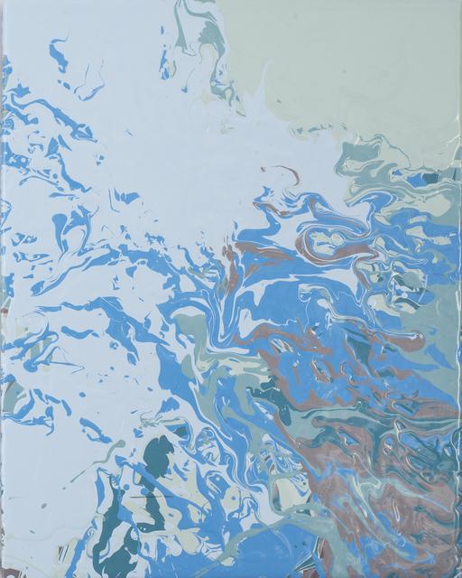 , 'palebluepalegreenbluebrown pour,' 2015, Heather Gaudio Fine Art