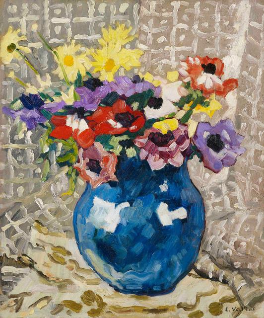Louis Valtat, 'Anémones et marguerites au vase bleu,', 1933, Stoppenbach & Delestre