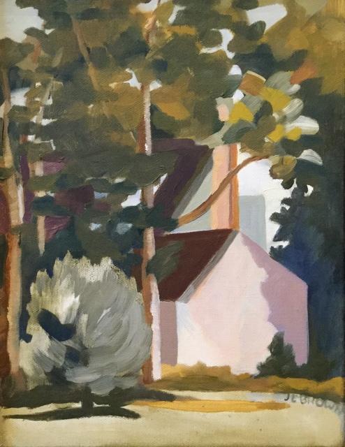 , 'White Building in the Trees,' 2018, Matt Brown Fine Art