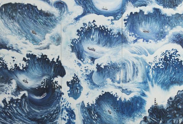 Oscar Oiwa, 'Waves', 2011, Painting, Oil on canvas, Galeria Nara Roesler