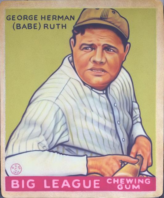 , '1933 Goudey - Babe Ruth,' 2017, Axiom Contemporary