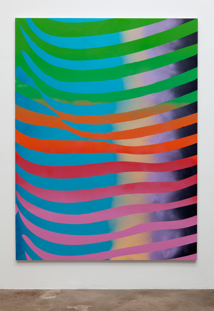 , 'Sexy Stripes (green, blue, purple, pink),' 2015, Erin Cluley Gallery