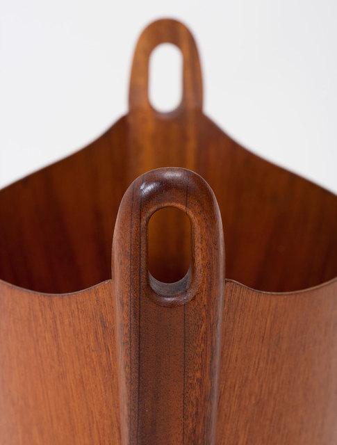 P.S. Heggen, 'Teak Wastepaper Bin', ca. 1960, Design/Decorative Art, Bent plywood with teak veneers, solid teak handles, Patrick Parrish Gallery