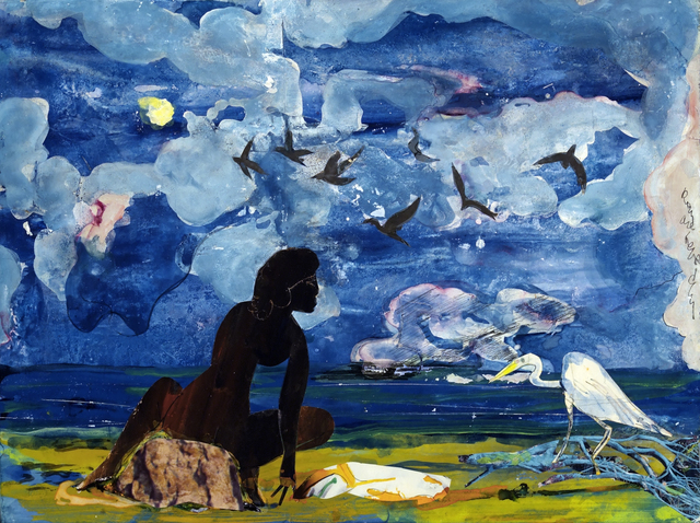 , 'Woman and Egret,' 1975, Hemphill Fine Arts