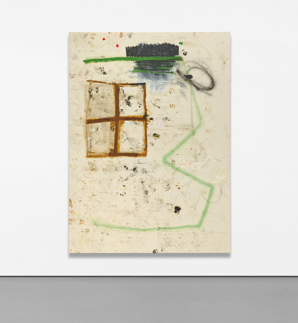 Joe Bradley, 'Frank', 2010, Mixed Media, Oil stick, spray paint, paper collage and mixed media on canvas, Phillips