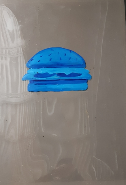 , 'Blue Hamburger,' 2019, Robert Kananaj Gallery