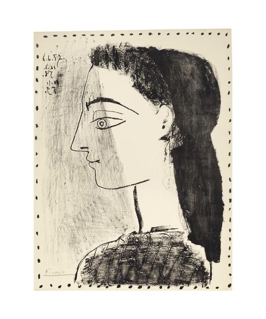 Pablo Picasso, 'Jacqueline au mouchoir noir', 1959, Print, Lithograph on Arches paper, Christie's