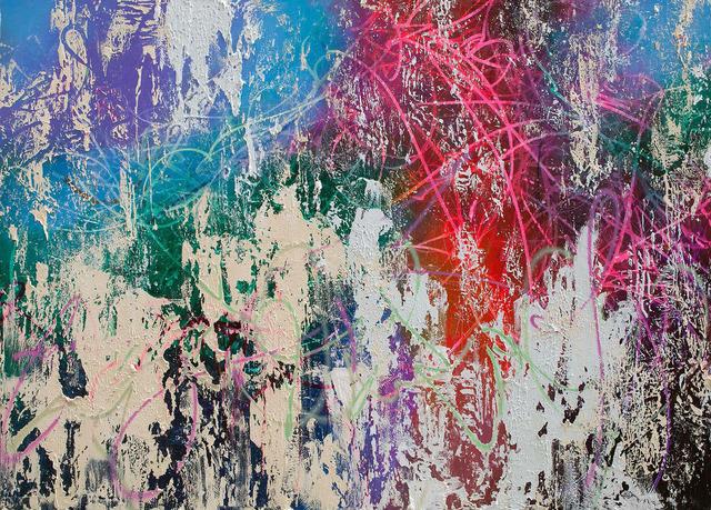 José Parlá, 'Neon Spring,' 2013, Bryce Wolkowitz Gallery