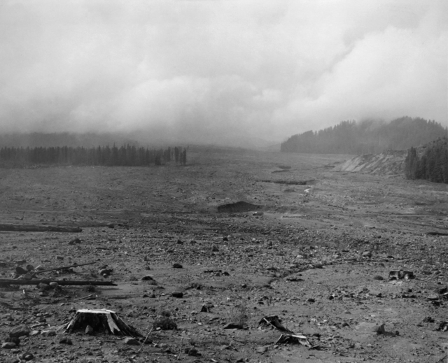 , 'Looking NW across lahar (mudflow) toward Mt. St. Helens- 6 miles SE of Mt. St. Helens, Wash.,' 1983, Etherton Gallery