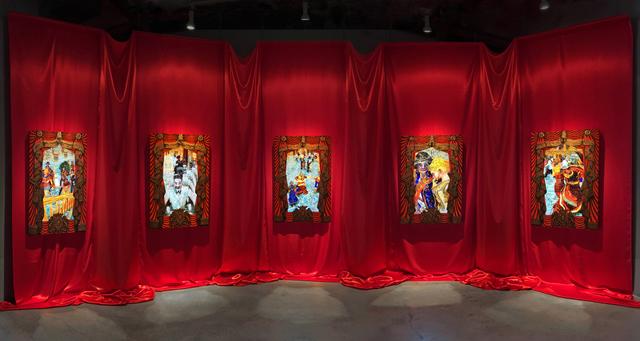 , 'The Ballroom (5 video painting installation),' 2016, Luis De Jesus Los Angeles