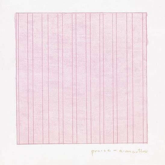 Agnes Martin, 'Praise', 1976, EHC Fine Art