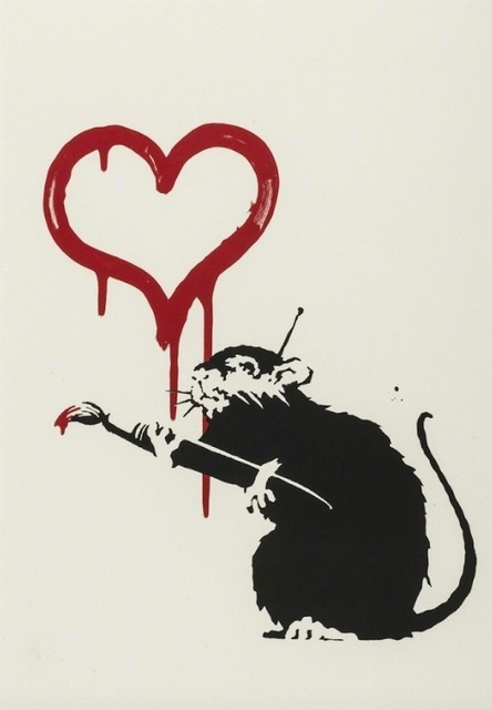 Banksy, 'Love Rat', 2004, Kings Wood Art