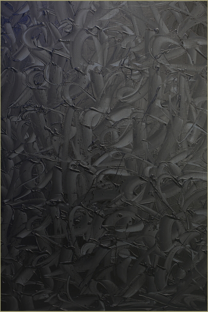 Rafael Sliks, 'GreyBlackOil 4', 2019, Painting, Oil on canvas, Ground Effect Gallery
