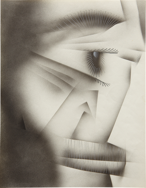 Jim Shaw, 'Untitled', 1981, Drawing, Collage or other Work on Paper, Airbrush and pencil on paper, Phillips