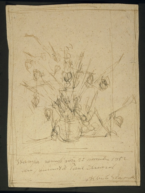 , 'En Pensant a Paul Eluard (Still Life with Flowers),' 1952, Omer Tiroche Gallery
