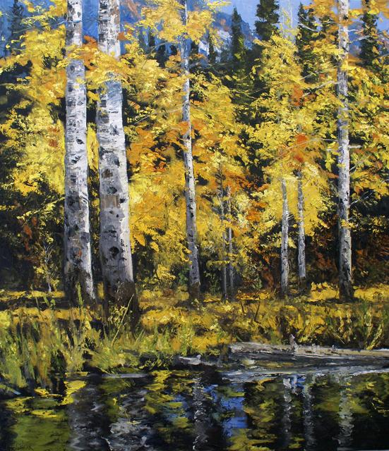 James Cook, 'Ute Aspen - September', 2021, Painting, Oil on linen, Gail Severn Gallery