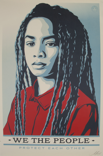 Shepard Fairey (OBEY), 'We the People: Protect Each Other; Are Greater Than Fear; Defend Dignity', 2017, Julien's Auctions