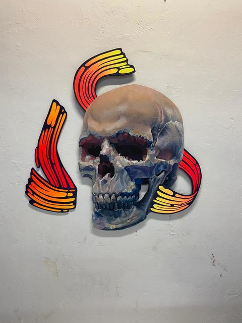URIGINAL, 'Arkhe', 2020, Painting, Acrylic and spray paint on hand cutted wood, N2 Galería
