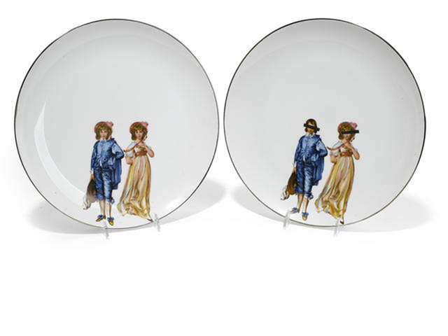 , 'Two Decal Plates: Blue Boy/Pinkie,' 1969, Ferrin Contemporary