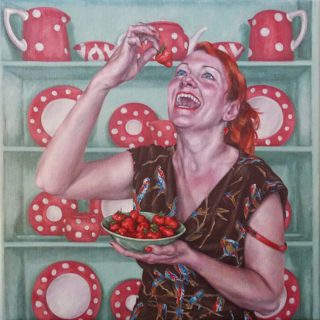 , 'Laughing While Eating Strawberries,' 2015, Reuben Colley Fine Art