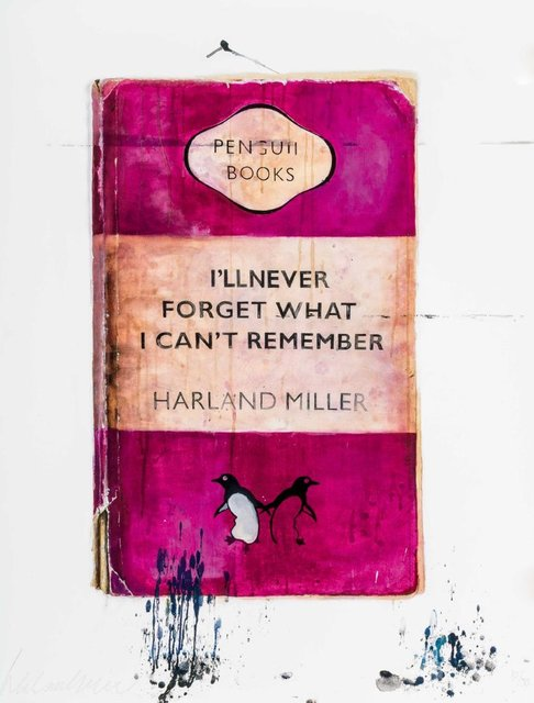Harland Miller, 'I'll Never Forget What I Can't Remember ', 2010, Maddox Gallery