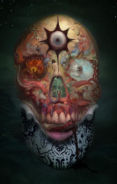 Burton Gray, 'Skull', Painting, Ultra Chrome Print, Cradled Panel, Art Resin, Frame, bG Gallery