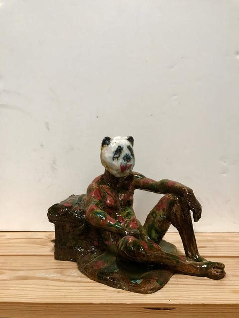 , 'Figure Maquette with Panda Head,' 2001, Catharine Clark Gallery