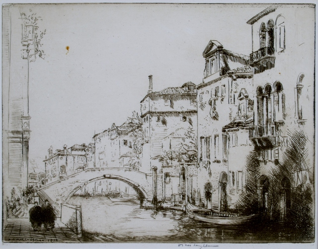 Donald Shaw MacLaughlan, 'By the Salute, Venice', 1922, Print, Etching, Private Collection, NY